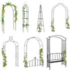 Metal Garden Arch 1/2 pcs Climbing Plants or  Archway with Gate Rose Plants Clib