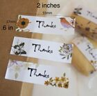 30 THANK YOU, BIRDS, FLOWERS, BUTTERFLY STICKERS SEALS 2