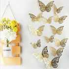 12pcs 3d Butterfly Wall Stickers Art Home Decals Decorations Decor Kids Room Diy