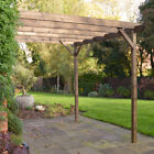 *CLEARANCE* Wall Mounted Wooden Garden Pergola - 5 Sizes / 2 Colours Available