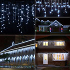Cool White 96-960 LED Fairy String Icicle Hanging Curtain Lights Xmas Decoration