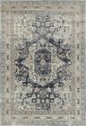 Traditional Persian Prudence Design Medallion Floor Area Rugs Blue Allover