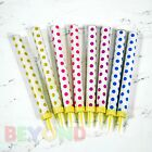 Kyпить Sparkling Candles Birthday Candle Party Wedding Sparklers Polka Dots Candles 7