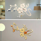 3d Mirror Flower Art Removable Wall Sticker Acrylic Mural Decal Home Decoration