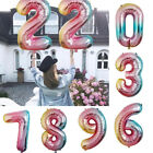 Gradient Color Number 0-9 Air Foil Balloons Birthday Party Wedding Decor 32''