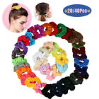 20/40Pcs Silk Satin Hair Scrunchies Set of Different Colors Ties Ropes Gifts