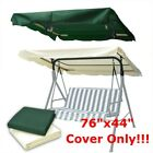 """76""""x44"""" Outdoor Patio Swing Canopy Top Replacement Cover Garden Porch Bench"""