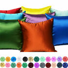 Cushion Cover Silk Satin Pillow Cover Decorative Throw Pillow Case Home Decor