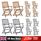 Folding Wooden Home Garden Outdoor Chairs Dining Chair Solid Acacia Wood New Uk