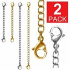 "Внешний вид - 2-Pack Extender /Safety Chain Extender Necklace Bracelet Lobster lock 3"" or 6"""