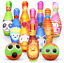 Dreamon Skittles Game for Kids Soft Bowling Set 10 Pins and 2 Balls with Net Bag