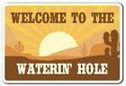 WELCOME TO THE WATERIN' HOLE Decal animals desert drink ranch