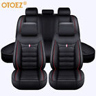 9pcs Car Seat Covers Set Full Surrounded Leather Universal Fit Vehicles Auto SUV