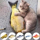 Cat Dog Stuffed Fish Toy Pet Plush Chewing Funny Interactive Play KickerToys