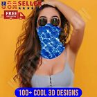 3D Designs Face Mask Sun Shield Neck Gaiter Balaclava Bandana Headband Covering