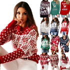 Women Christmas Long Sleeve Knit Sweater Ladies Xmas Casual Pullover Jumper Tops