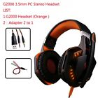 NEW Gaming Headset G2000 With Light Mic Stereo Deep Bass For PC Gamer PS4 XBOX