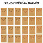 Fashion 12 Constellations Symbol Bracelet Red/black Rope Couple Jewelry Gifts