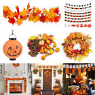 5 Styles Halloween Maple Leaf Wreath Pumpkin Decor Pendant Garland Ornaments