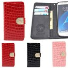 Cubic Croco Wallet Case for Samsung Galaxy S20 S20+ S20 Ultra / S10 S9 S8 S7
