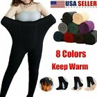 Women Lady Warm Fleece Lined Thick Thermal Full Foot Tights Elastic Long Pants