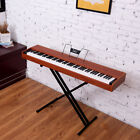 Glarry Portable 88-Key Home Full Weighted Hammer-action Digital Piano Walnut 3
