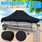 17-25ft Waterproof Boat Cover Marine Grade 210D Fits V-hull Center Console Boats