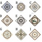 10x Tiles Stickers Pvc Floral Self-adhesive Home Wall Floor Decor Square 10cm