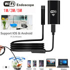 US 1/3/5M 8 LEDs Wireless Endoscope WiFi Borescope Inspection Camera For iPhone