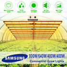 800W-400W LED Grow Lights Samsung 5/6/8/10 Bars Strips 660nm replaces Fluence UL