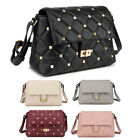 Ladies LYDC Studded Shoulder Bag Girls Quilted Stud Saddle Bag Handbag GL5014