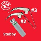 McCoy Flexi-Tip Fiberoptic LED Laryngoscope Set Blade + Stubby Handle Zipper Bag