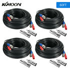 KKMOON BNC Cable 60ft Power Video Extension Wire Cord for Home Security Kit D4N0