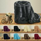 Weighted Christmas Blanket Large Sofa Throw Fleece Faux Fur Single Double Size