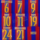 2015-17 Barcelona Player Issue Home Name Set Avery for Shirt Jersey
