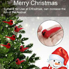 1pcs+Artificial+Red+Feathered+Birds+Christmas+Ornaments+Garden+decorationBE