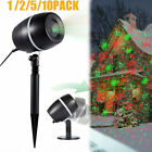 1-10PC Christmas Star Moving Laser Projector Light Outdoor Landscape Stage Lamp