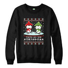 Penguin Ice Christmas Jumper, Funny Xmas Snowman Spoof Penguins Retro Gifts Top