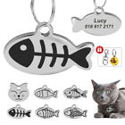 Pet Cat Dog Tag Personalized Engraved Puppy Kitten ID Name Tags Stainless Steel