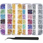 5900pcs Mix Size Nail Art Rhinestones Glitter Diamond AB Crystal Gems Tips Decor