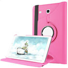 Flip Leather Rotating Plastic Stand Case For Samsung GALAXY Tab S2 S3 8 9.7 inch