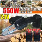 Rechargeable Cordless Electric Chain Saw Handheld Wood Mini Cutter Woodworking