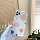 Cute Simple Colorful Dot Pattern Phone Case Cover For Apple iPhone12 XR 11 7 8+