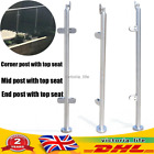 110cm Railing Post Stainless Steel Round Pipe Column Stair Pool Fence