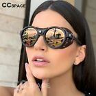 Steampunk Oval Sunglasses Windproof Women Fashion Shades UV400 Vintage Glasses