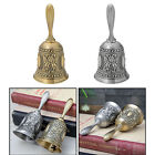 Flower Printed Antique Hand Bell Desk Call Bell Service Bell Attention Alarm