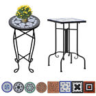 Ceramic Side End Table Plant Table Garden Bistro Balcony Shelf Square/Round