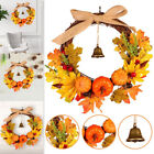 Ornament Pumpkin Wreath Halloween Pendant Door Hanging Artificial Leaves Wreat