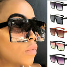 Fashion 2021 Oversized Square Sunglasses Women One Piece Driving Outdoor Glasses