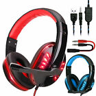 LED Stereo Bass Surround Gaming Headset for PS4 New Xbox One PC with Mic